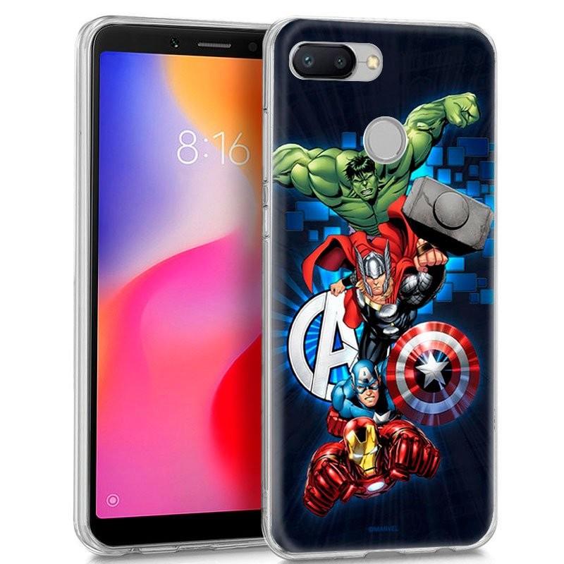 Funda de silicona con print Avengers de Cool para Xiaomi Redmi 6