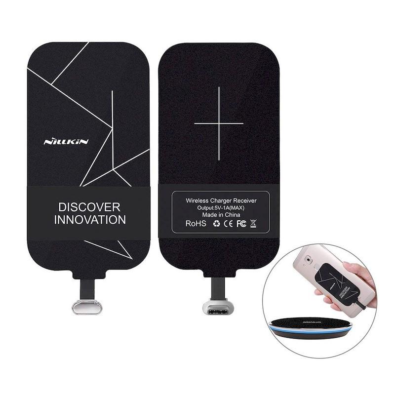 Carga Inalámbrica Magic Tags Tipo C Corto - Salida: 5V / 1A (máximo) -Estándar de carga inalámbrica QI - Conector USB-C - Carga Inalámbrica para Móviles Incompatibles -Eficiencia de Carga de≥70% - Longiud 0.16 cm