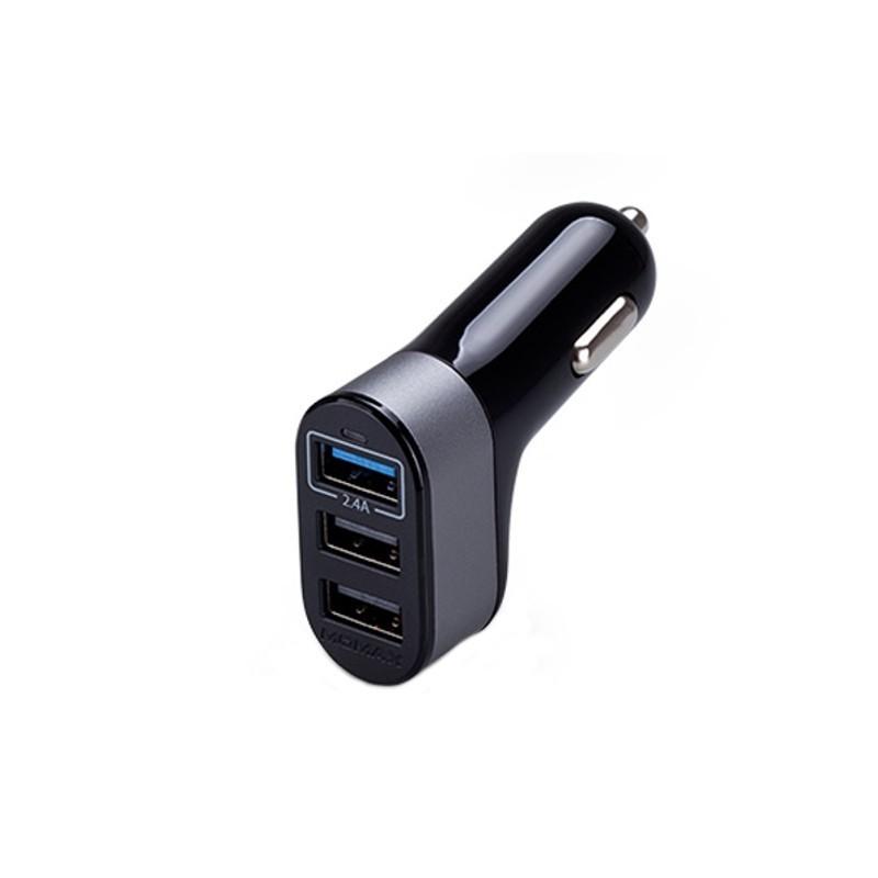 Cargador de Coche 3 Puertos USB Quick Charge