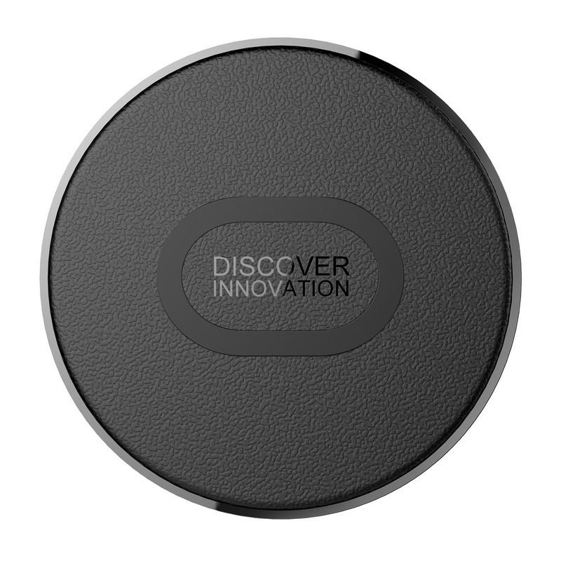 Cargador Inalámbrico Nillkin Mini Fast Wireless Charger - Color negro - Carga Inalámbrica Estándar 5V/2A -Carga Inalámbrica Rápida 9V/1.7A - Tasa de Conversión del 80% - Chip Inteligente - Protección contra cambios energéticos y de Temperatura - Cuero