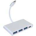 Coeven Hub USB Tipo C a 3x USB 3.0 / USB Tipo C