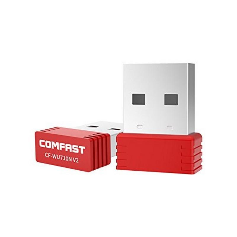 COMFAST CF-WU710N V2 Adaptador WiFi; color rojo
