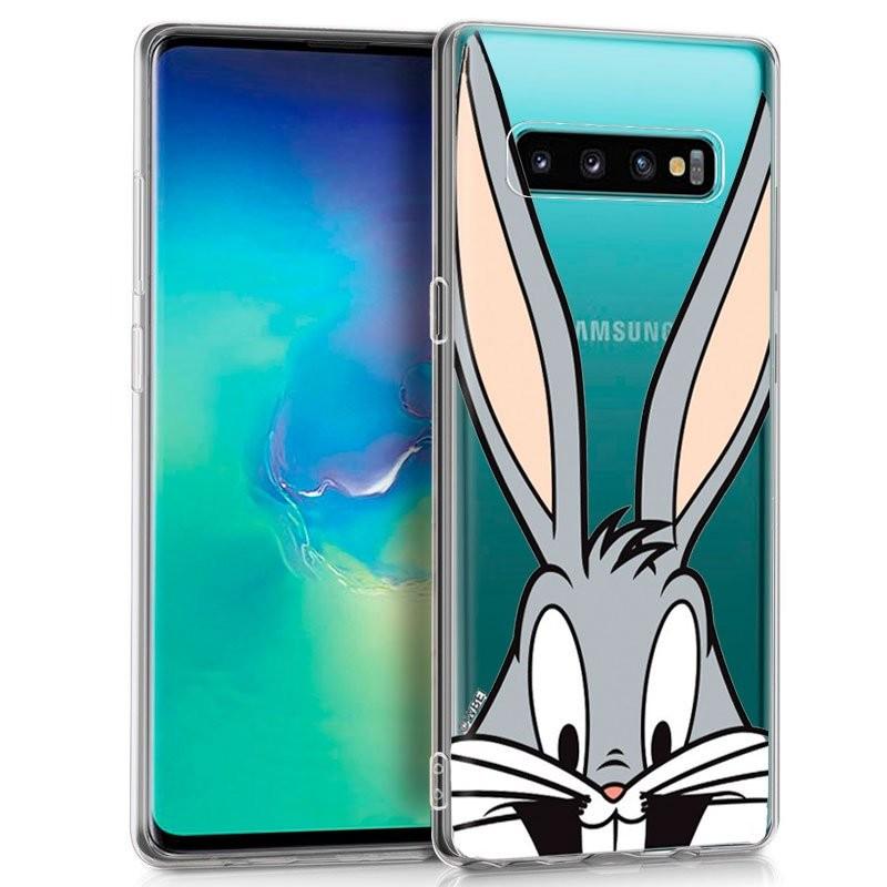 Funda de silicona con print Bugs Bunny de Cool para Samsung Galaxy S10+