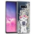 Funda de silicona Glitter Llama de Cool para Samsung Galaxy S10e