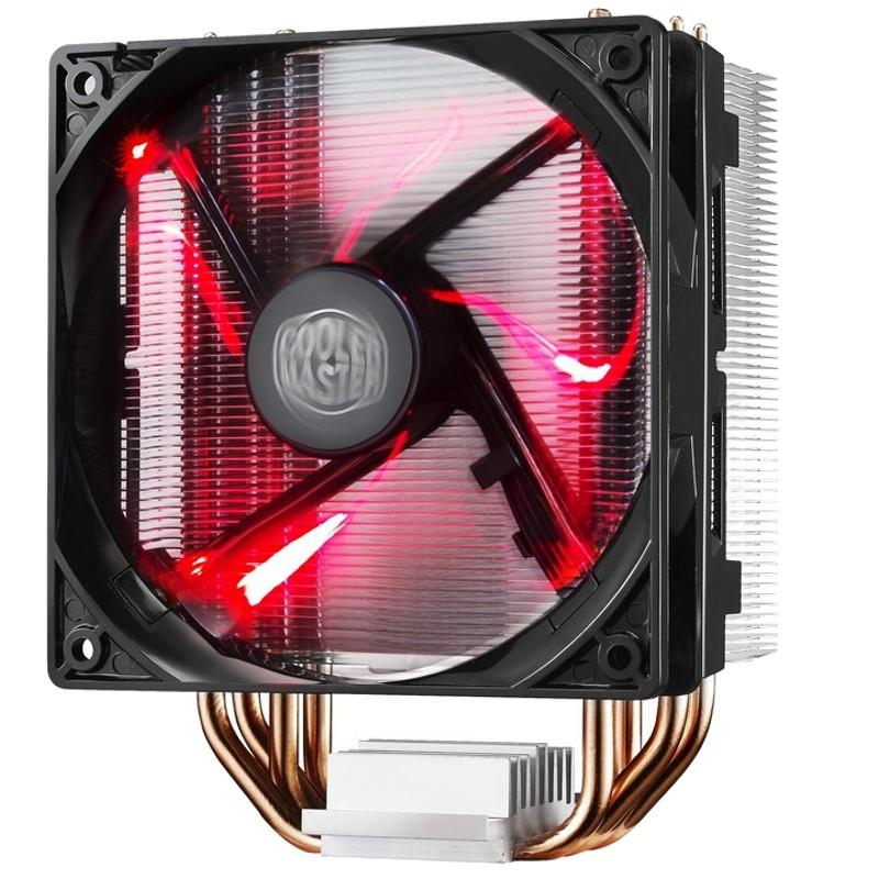 Cooler CPU Hyper 212 LED - cor preta, iluminação LED vermelha. Soquetes suportados: Soquete AM2, Soquete AM3, Soquete AM3, Soquete AM3 +, Soquete FM1, Soquete FM2, Soquete FM2, LGA 1151 (soquete H4), LGA 2011-v3 (soquete R)