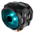 Cooler CPU MasterAir MA610P RGB - Iluminação, cor preta. Sockets suportados: Intel LGA 2066/2011-v3 / 2011/1151/1150/1155/1156/1366/775 AMD: AM4 / AM3 + / AM3 / AM2 + / AM2 / FM2 + / FM2 / FM1