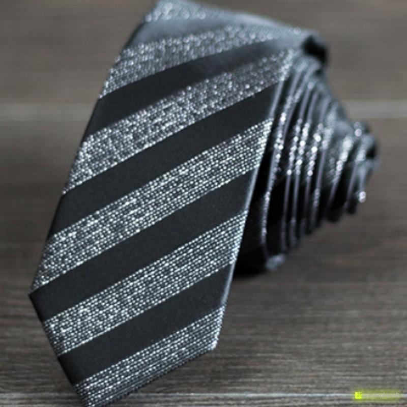 Tie Slim a listras - Homen