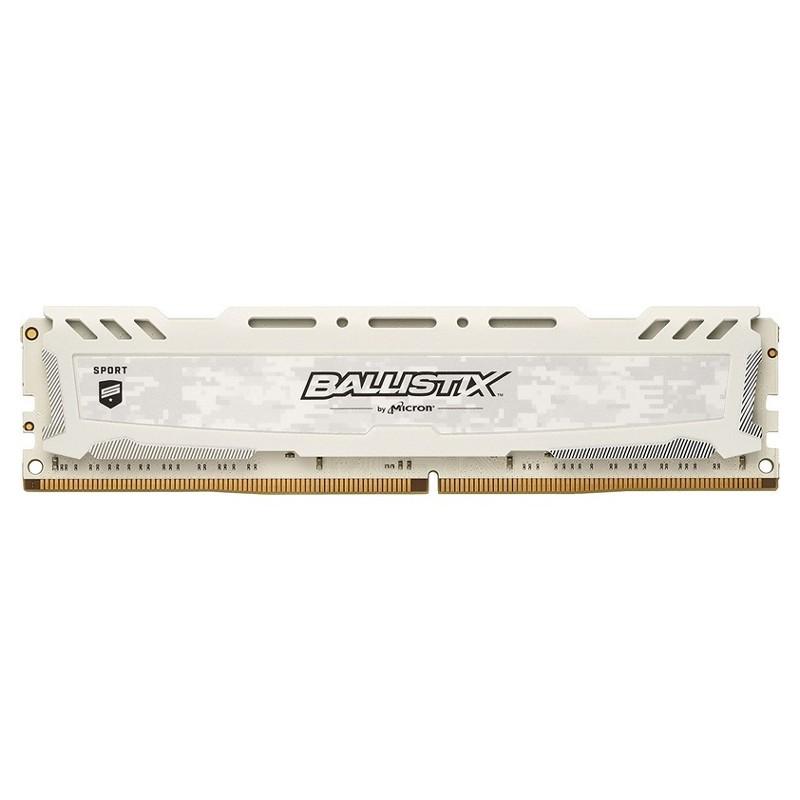 Crucial Ballistix Sport LT 8GB DDR4 2400MHz - Branco