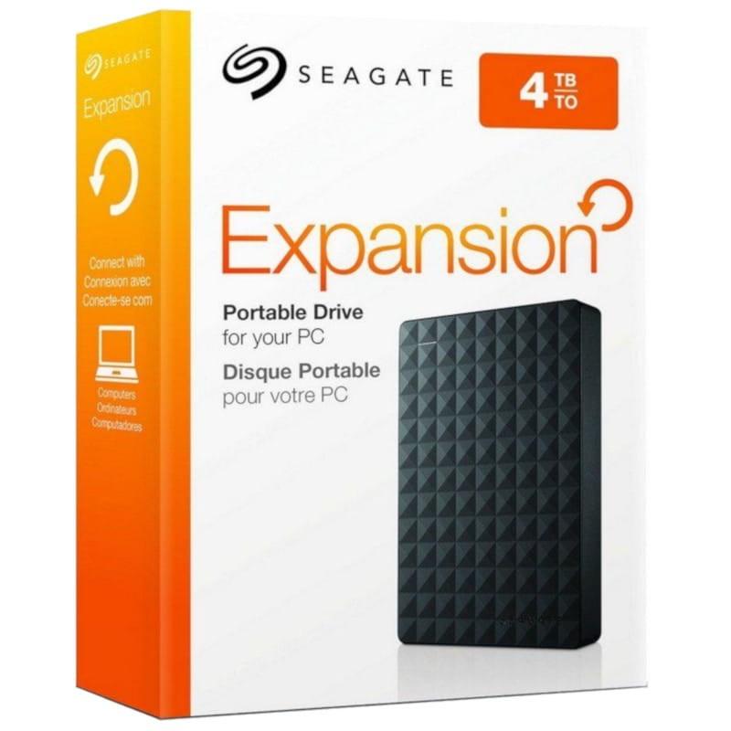 Black Seagate Expansion 4TB Portable External Hard Drive USB 3.0 STEA4000400