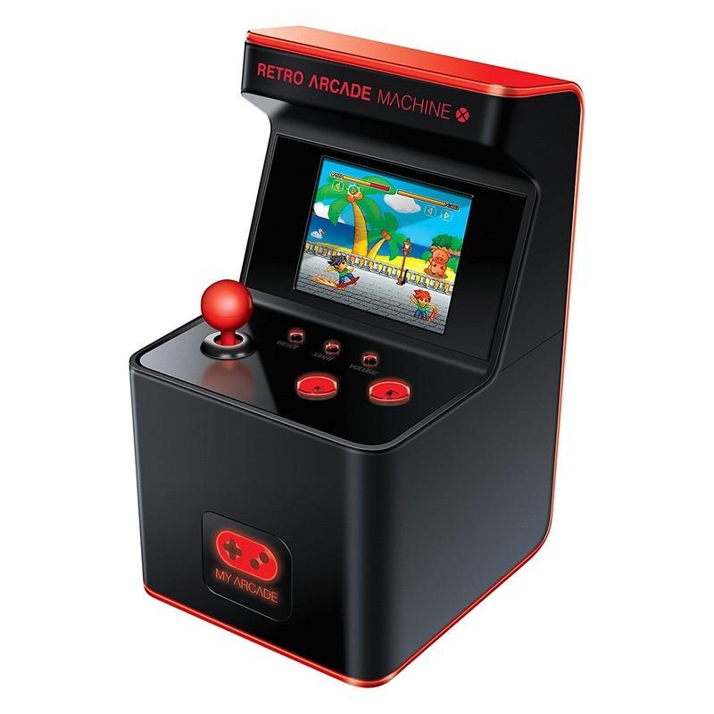 DreamGear My Arcade - Preto - Botões com Luz de Fundo - Stick - 2 Botões de Acção - 300 Jogos Instalados - Jogos Classificados por Categoria - Estética Retro - Design de Máquina Recreativa - Portátil - 3 x Baterias AA