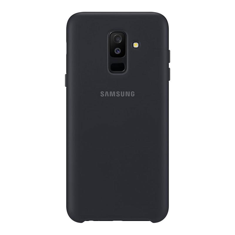 san francisco 9790c 9da29 Samsung Galaxy A6 Plus 2018 Dual Layer Cover Black