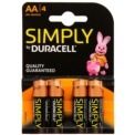 Duracell Pack 4x AA Simply (MN1500)