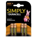 Duracell Pack 4x AAA Simply (MN2400)