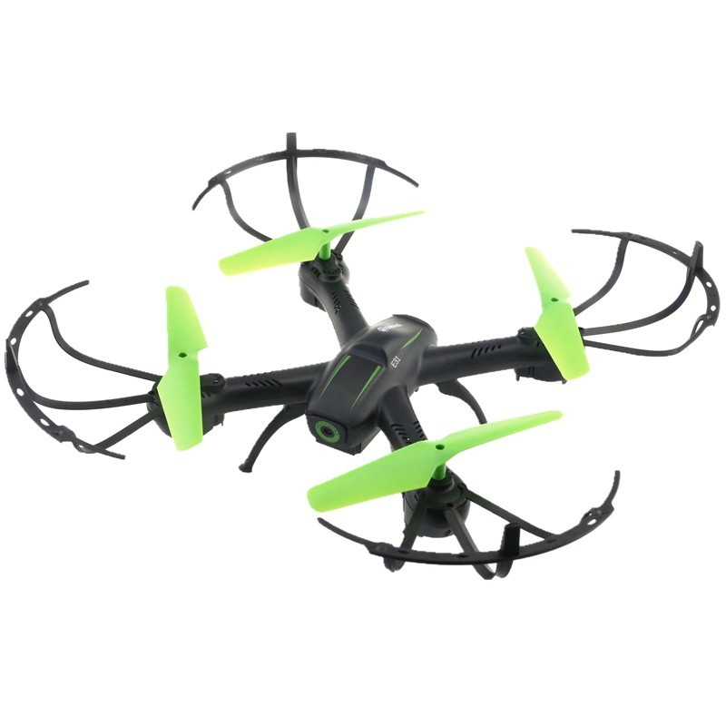 Eachine E31HW FPV WiFi - Color negro (hélices de color verde) - Modo Headless - Return to Home - Función FPV - Modo Altitude Hold - Ready to Fly - Movimiento 360º - Giroscopio de 6 Ejes - Dron de Iniciación - Fácil de Controlar
