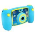 Easypix KiddyPix Galaxy Azul - Cámara para Niños - Color azul - Fotografía5MP (2592x1944) - Lente frontal + Lente trasera para selfies - Pantalla LCD LTPS 2 Pulgada - Almacenamiento Micro SD - Diseño Robusto para Niños - Vídeos a Ful HD