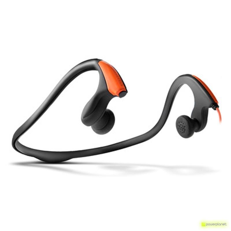 Energy Earphones Running One Neon Orange