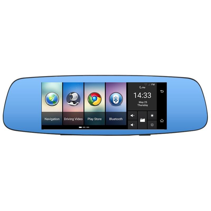 Espelho Retrovisor Junsun A800 7 Android GPS com Câmaras Park Assist Full HD