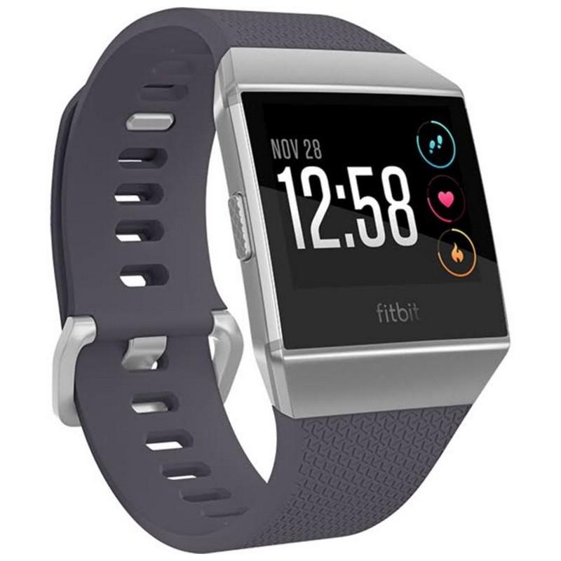 Fitbit Ionic Prateado / Cinzento Azulado - Cor Prateado / Cinzento Azulado - Controlo do sono - Objectivos - Medição exaustiva - Exercícios - Aplicações - Reconhecimento do Exercício - Análise Cardiovascular - GPS - GLONASS - Submergível até 50 metros