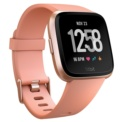 Fitbit Versa Peach / Rose Gold Aluminum - Smartwatch - Peach Color - Smartphone notifications - Heart rate monitoring - Autonomy of up to 4 Days - Sleep Phases - Submersible up to 50 meters - Monitor the lengths you do