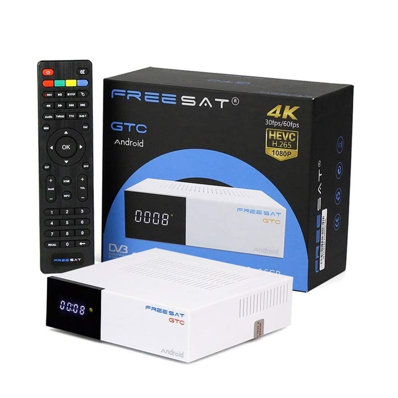 Android TV Freesat GTC 2GB/16GB DVB-T2 / S2 / C ISDB-T Android 6.0