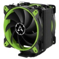 Cooler CPU Arctic Freezer 33 eSports Green Edition - Color negro y verde. Sockets: LGA 1150 (Socket H3),LGA 1151 (Socket H4),LGA 1155 (Socket H2),LGA 1156 (Socket H),LGA 2011-v3 (Socket R),LGA 2066,Socket AM4