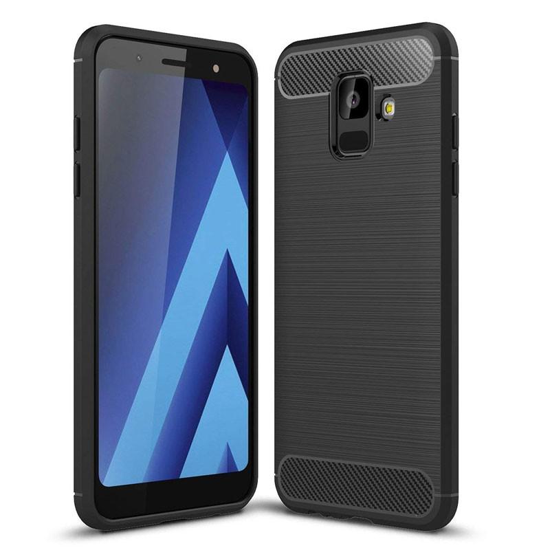 Funda de silicona Carbon Ultra para Samsung Galaxy A6 2018