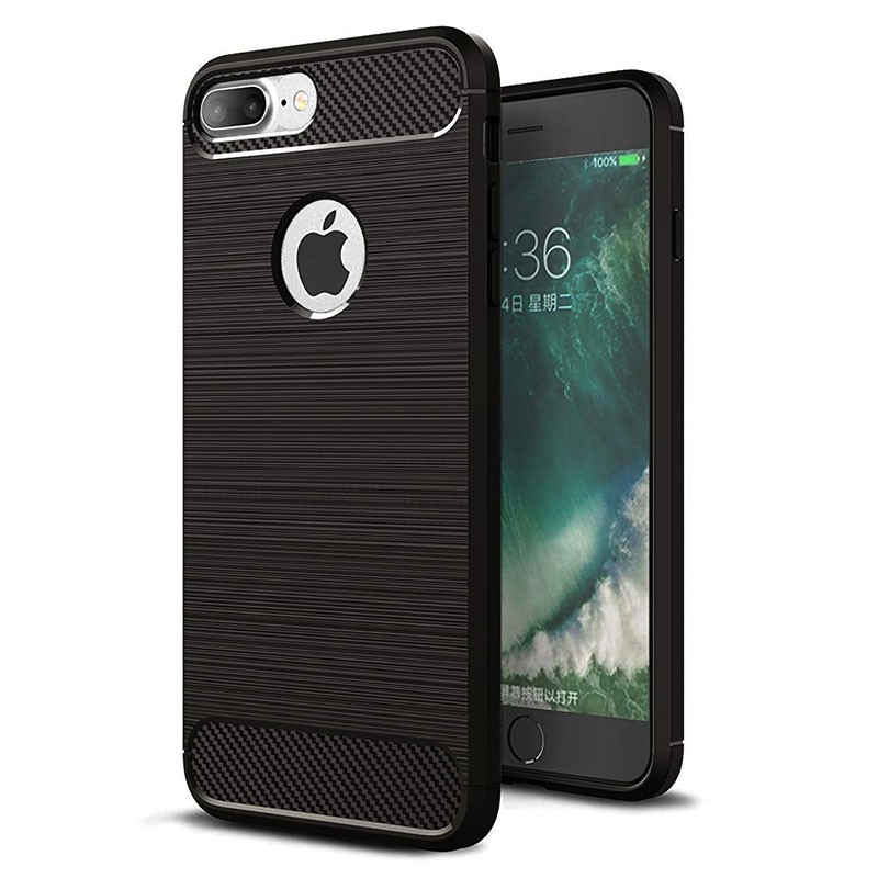 Funda de silicona Carbon Ultra para iPhone 8 Plus