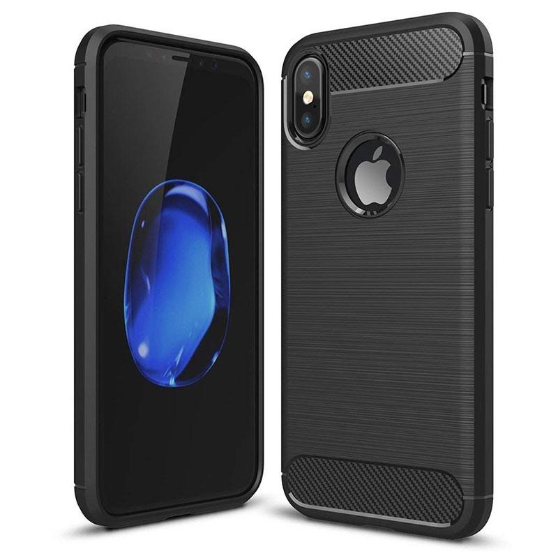 Capa de silicone Carbon Ultra para iPhone X