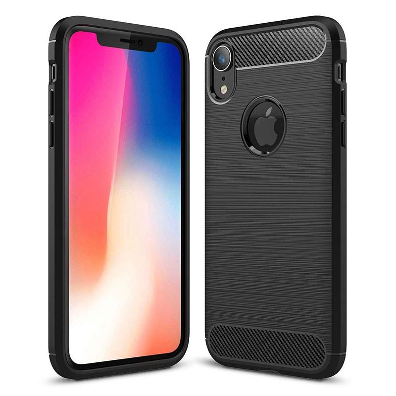 Capa de silicone Carbon Ultra para iPhone XR
