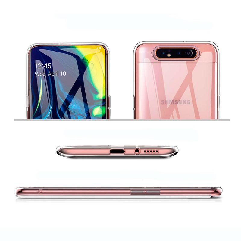 Elefante Everainy Funda Compatible para Samsung Galaxy A80 2019//A90 2019 Silicona TPU Gel con cord/ón Cover Bumper Ultrafina 3D Goma Case Caso Caucho Antigolpes