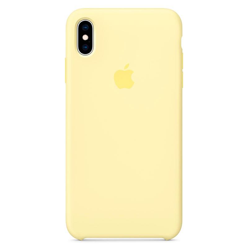 Capa em silicone para iPhone XS Max Amarelo-suave