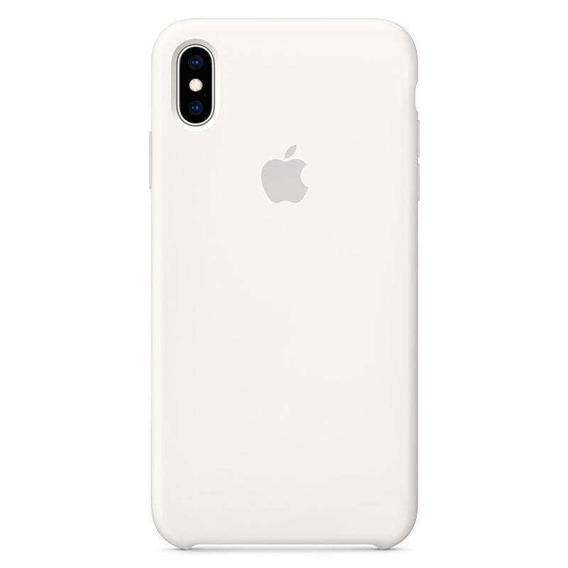 Capa em silicone para iPhone XS Max Branco