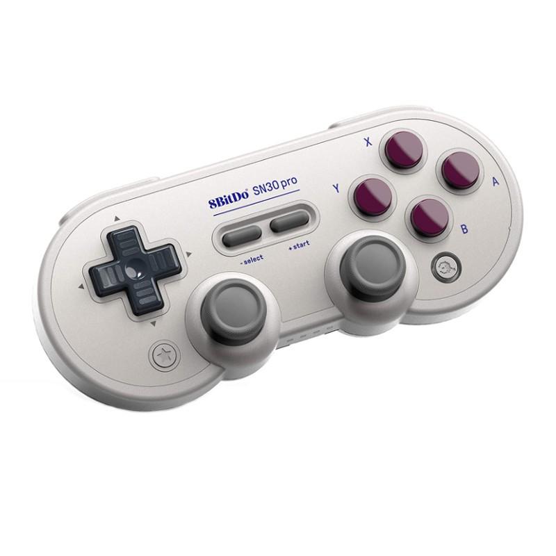 Gamepad 8bitdo SN30 Pro G - Gamepad Retro - Modo Vibração - Conexão USB - Conexão Bluetooth - Design Super Nintendo - Compatível com Nintendo Switch - Compatível com Steam - Compatível com Android