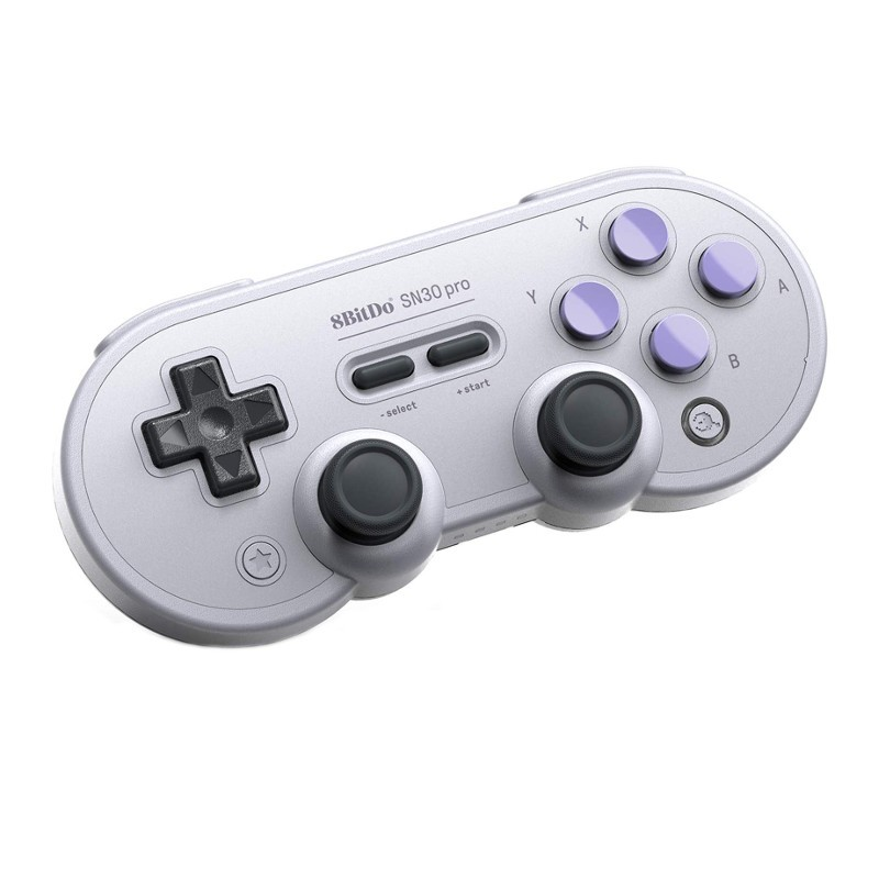 8bitdo Gamepad SN30 Pro SN - Retro Gamepad - Vibration Mode - USB Connection - Bluetooth Connection - Super Nintendo Design - Compatible with Nintendo Switch - Steam Compatible - Compatible with Android
