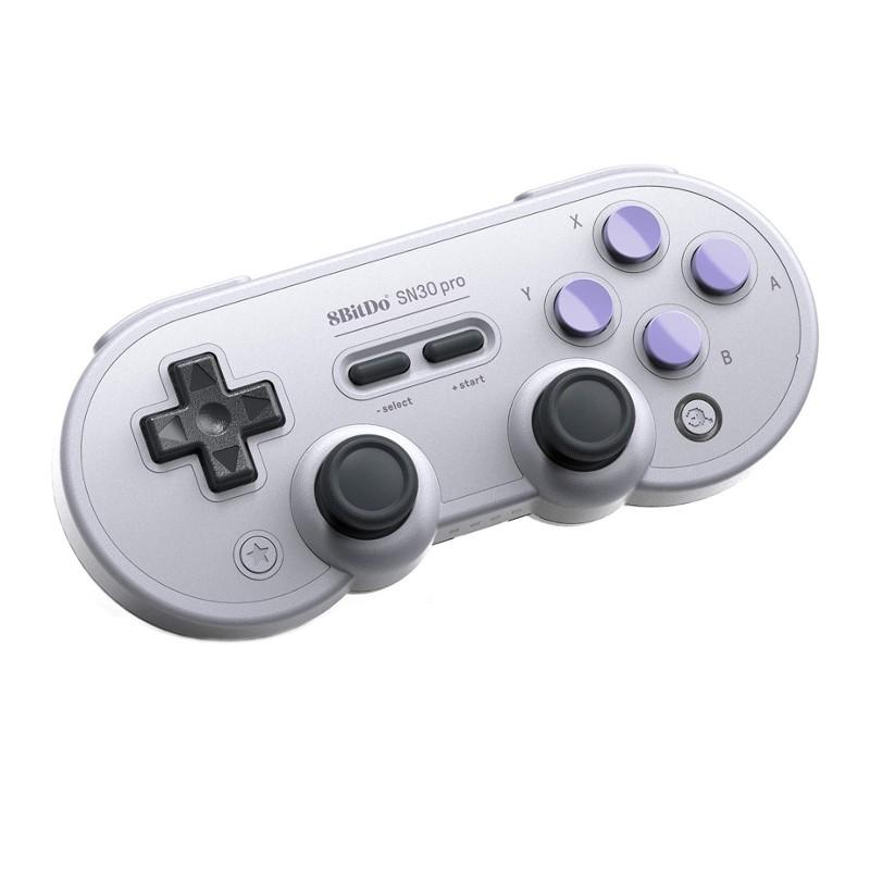 8bitdo Gamepad SN30 Pro SN - Retro Gamepad - Modo de vibração - Conexão USB - Conexão Bluetooth - Super Nintendo Design - Compatível com Nintendo Switch - Compatível com Steam - Compatível com Android