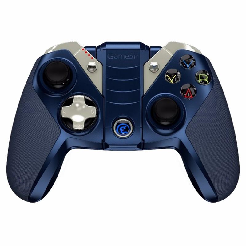 Gamepad Gamesir M2 IFM - Cor azul - Gamepad adaptado ao ambiente APPLE - Bateria 800 mAh - Bluetooth 4.0 - Ergonómico - Tinta Metálica - Tecnologia IFM - Compatibilidade certificada pela APPLE - Fortnite - Battlegrounds de PlayerUnknow