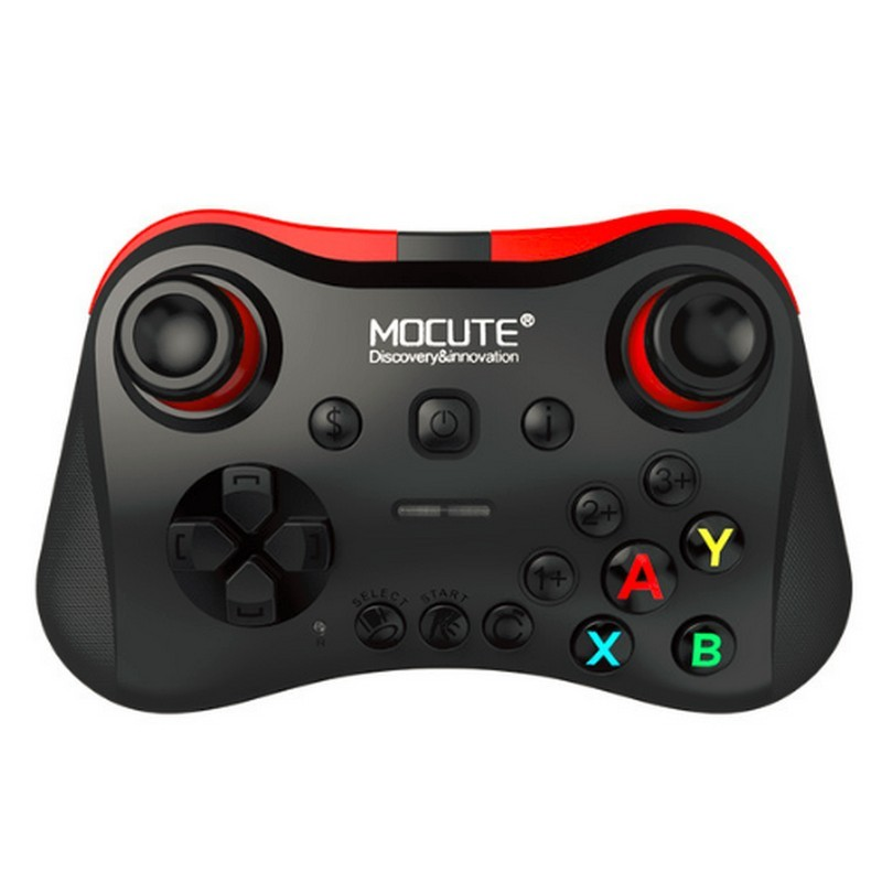 Gamepad MOCUTE-056 - Black color with red details - Autonomy of Up to 20 Hours - Mapping of MOBA Buttons - Shooter Functions - Bluetooth 3.0 - Compatible with Android, iOS, Windows, Tablets, Computers and VR - Maximum Disassembly 10 m
