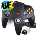 Gamepad N64 - Color negro - Compatible con la Nintendo 64 Original - Gamepad Retro - Gamepad N64 - Conexión Original - Disponible en color Gris, Negro, Rojo, Azul y Verde