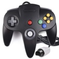 Gamepad N64 - Black color - Compatible with the Nintendo 64 Original - Gamepad Retro - Gamepad N64 - Original Connection - Available in Gray, Black, Red, Blue and Green
