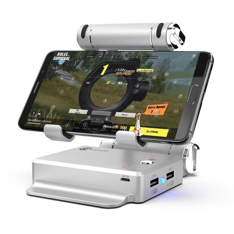 Gamesir X1 BattleDock - Conversor Dock para Smartphone - Cor Prateado. Permite conectar um teclado e rato USB ao smartphone e jogar melhores jogos FPS (ou qualquer outro género)