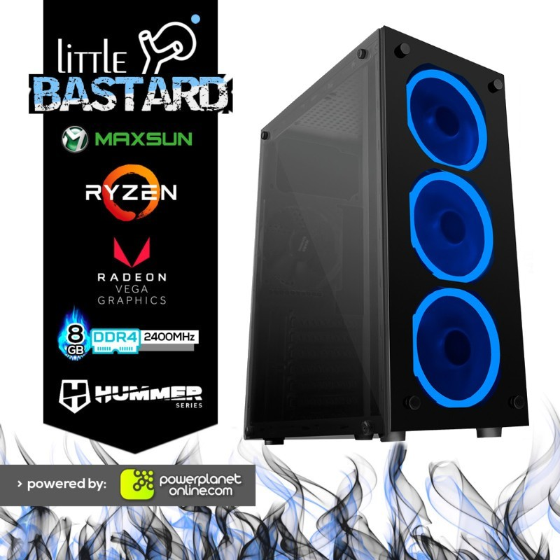 PC Gaming Ryzen 3 2200G/8GB/120GB SSD Little Bastard