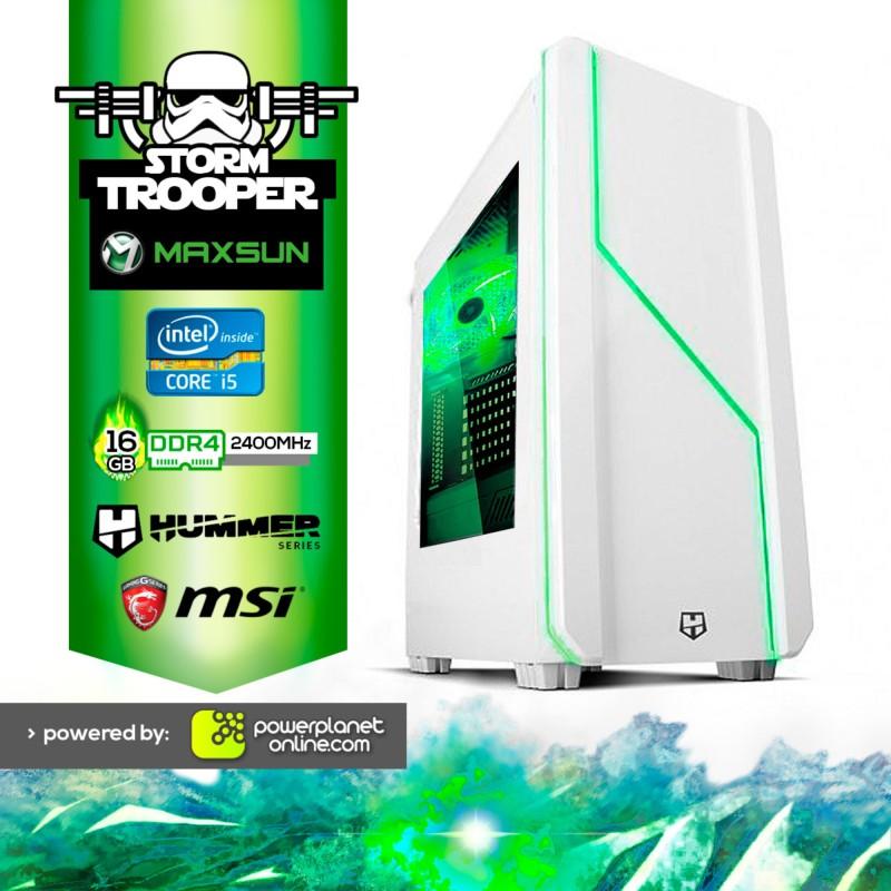 PC Gaming Intel i5 8400 2.8GHz/16GB RAM/120GB SSD/GTX1050Ti 4GB Storm Trooper