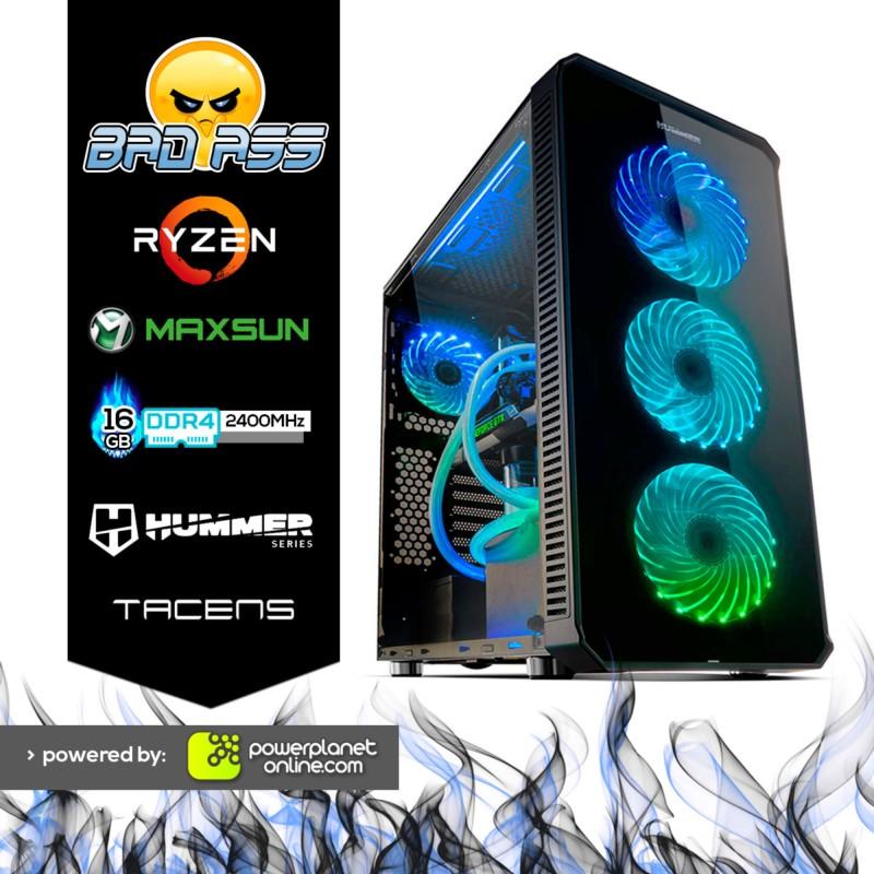 Computador Desktop Gaming Ryzen 5 2400G/16GB/120GB SSD/GTX1050Ti 4GB Bad Ass