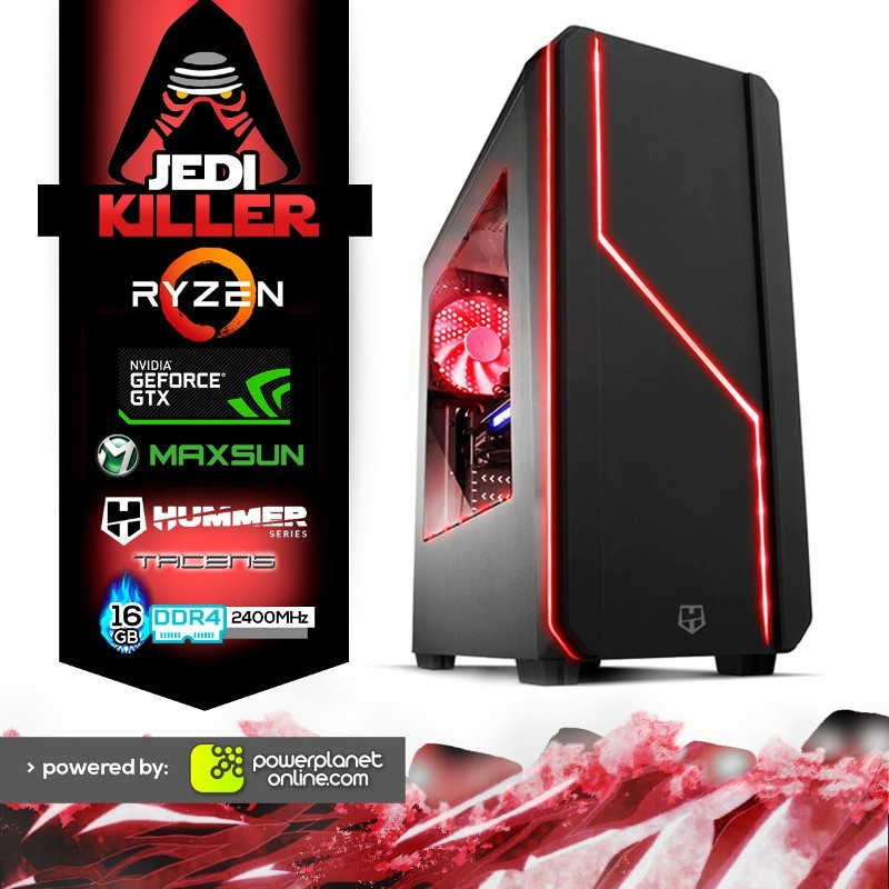 PC Gaming Ryzen 5 2400G/16GB/240SSD+1TB/GTX1060 6GB/Jedi Killer