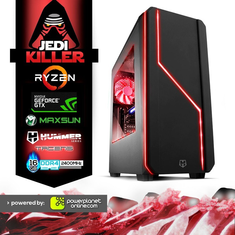 PC Gaming Ryzen 5 2400G/16GB/120SSD/GTX1060 6GB/Jedi Killer