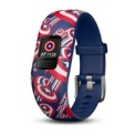 Garmin Vívofit JR 2 Marvel Captain America - Interactive Smartband - Special for Children - Daily Aims - Alerts - Remote Control - Smartphone Synchronization - Rugged 5ATM - Special Design Marvel El Capitán América - Item
