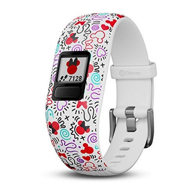 Garmin Vívofit JR 2 Minnie Mouse Branco - Smartband Interativo - Especial para Crianças - Objetivos Diários - Alertas - Controle Remoto - Sincronização Smartphone - Robusto 5ATM - Design Especial Minnie Mouse