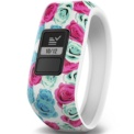 Garmin Vívofit JR White Flower - White with pink and blue flowers - Interactive Smartband - Special for Children - Daily Targets - Alerts - Remote Control - Smartphone Synchronization - Rugged 5ATM