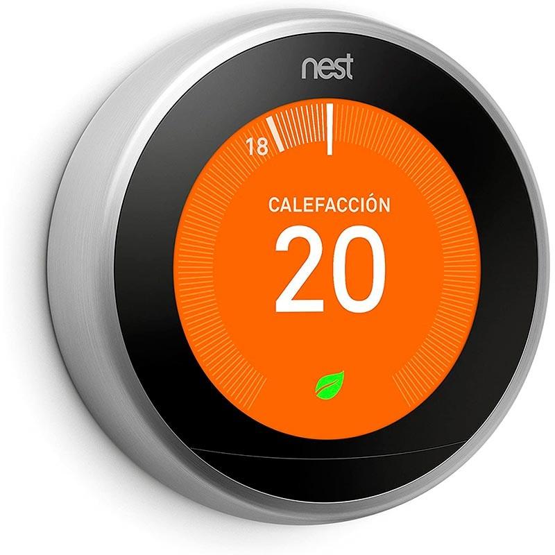 Buy Google Nest Learning Thermostat 3º Gen Stainless Steel ...