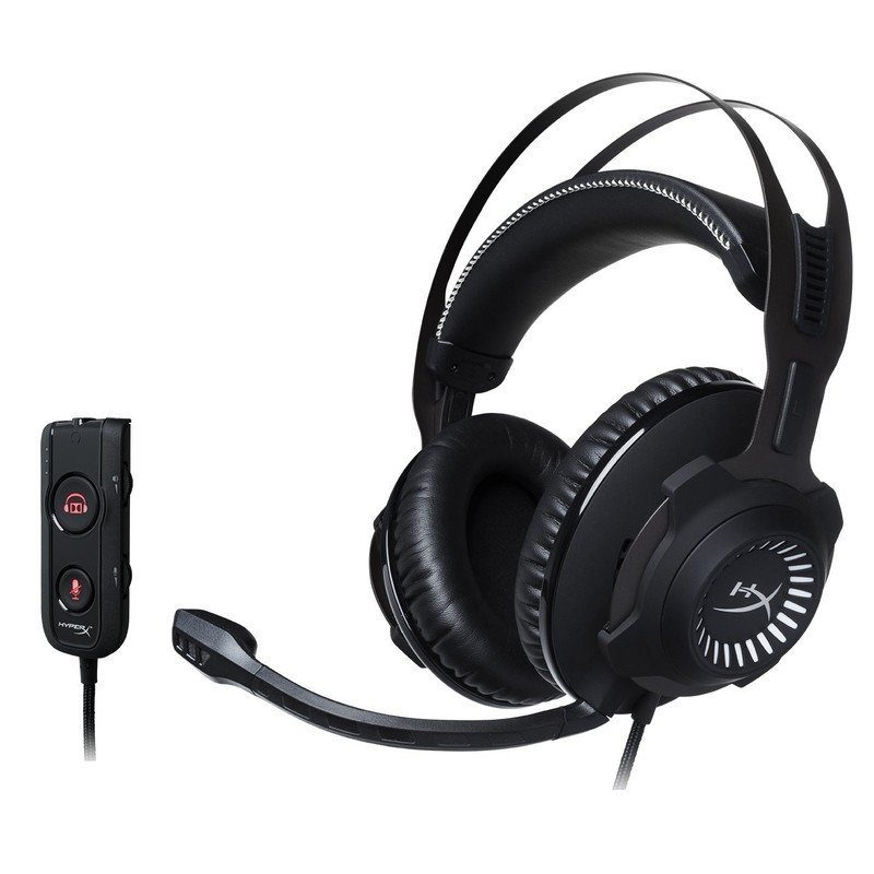 HyperX Revolver S Gaming 7.1 Black - Black color - studio-quality sound that lets you listen to your opponent more accurately from afar